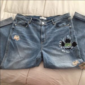 LOFT embroidery jeans